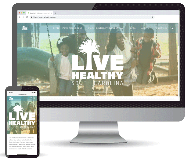 <h3>DHEC Live Healthy SC (www.LiveHealthySC.com)</h3><b>South Carolina</b> <br>Coulter Web Pros did a full website build and search engine optimization set up for Live Healthy SC.</br>