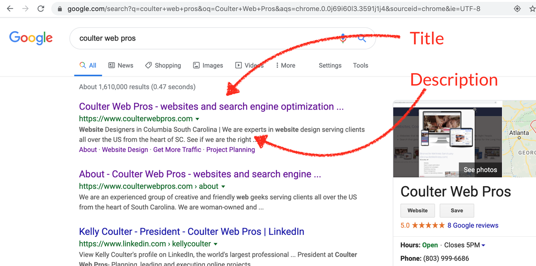 Google Results page screen capture