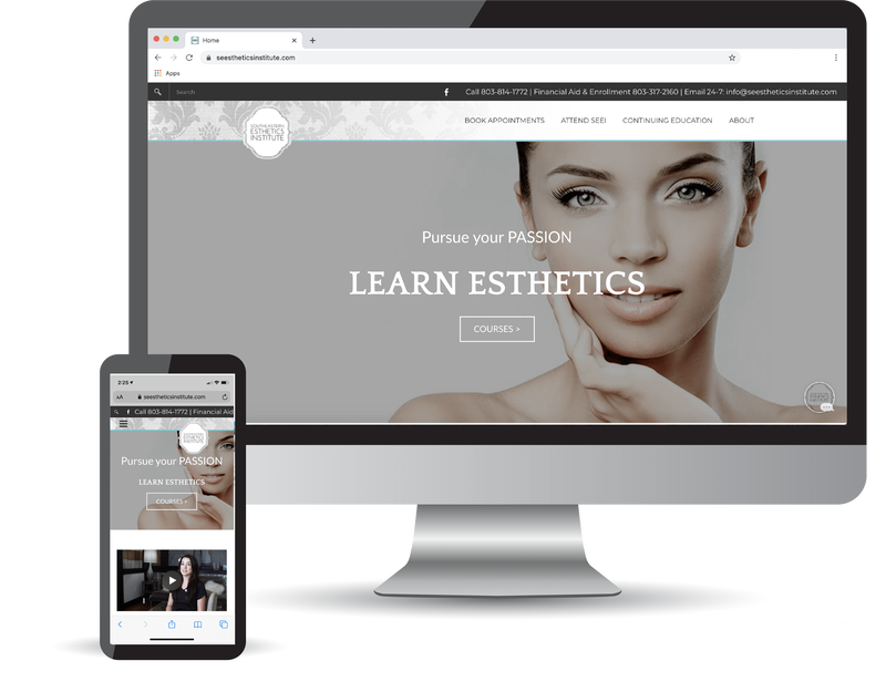 <h3>Southeastern Esthetics Institute (www.SEEstheticsInstitute.com)</h3><b>Columbia,South Carolina</b> <br>Coulter Web Pros did a full website build and search engine optimization set up for SEEI.</br>