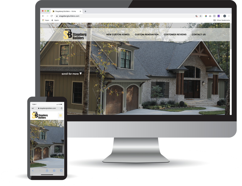 <h3>Stageberg Builders (www.StagebergBuilders.com)</h3><b>Greenville,South Carolina</b> <br>Coulter Web Pros did a full website build and search engine optimization set up for Stageberg Builders.</br>